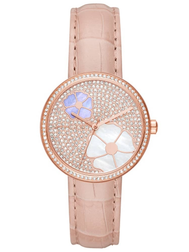 00b87c74569c Michael Kors Courtney Pink Strap Watch MK2718