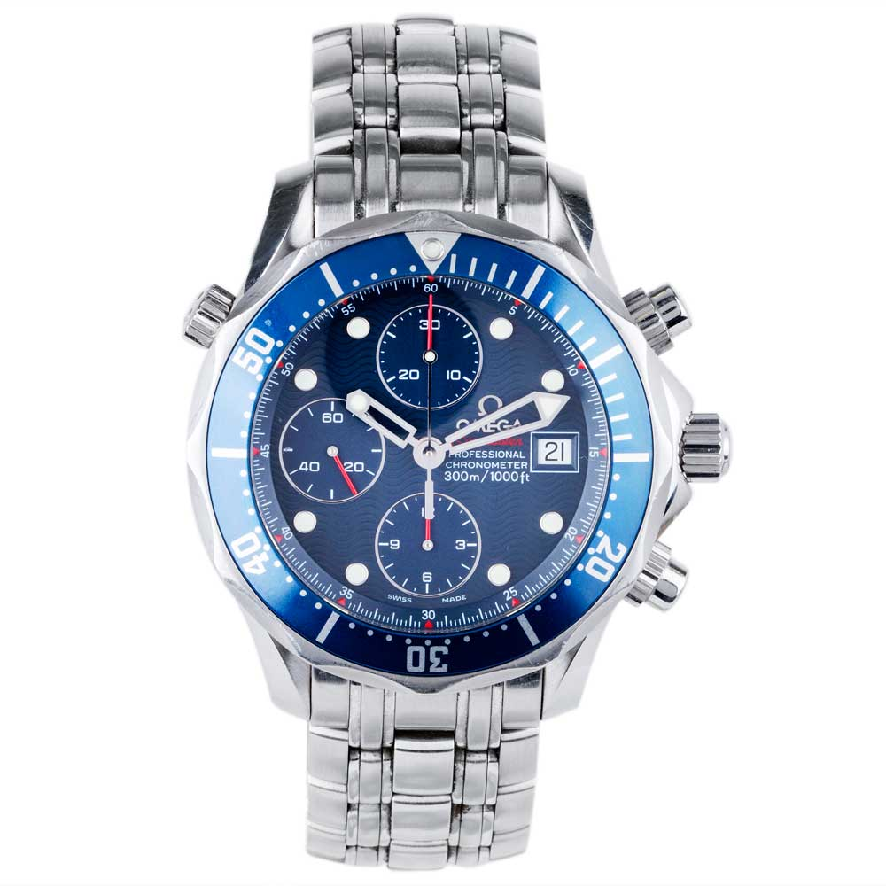 pre owned omega mens seamaster professional chronograph