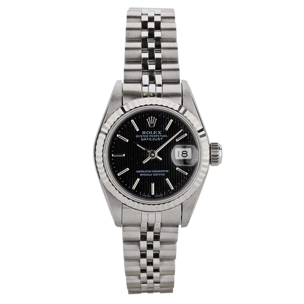 pre owned rolex ladies oyster perpetual datejust watch 69174 8365. Black Bedroom Furniture Sets. Home Design Ideas