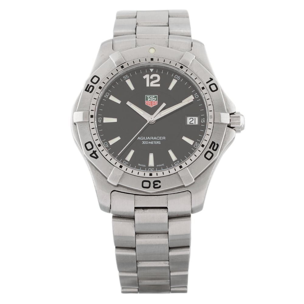 Pre-Owned TAG Heuer Mens Aquaracer Watch WAF1110 CP2767 Tag Heuer Mens Aquaracer Bracelet Watch I499657(481) Check out the rest of our Pre-owned Watch Collection here Watches