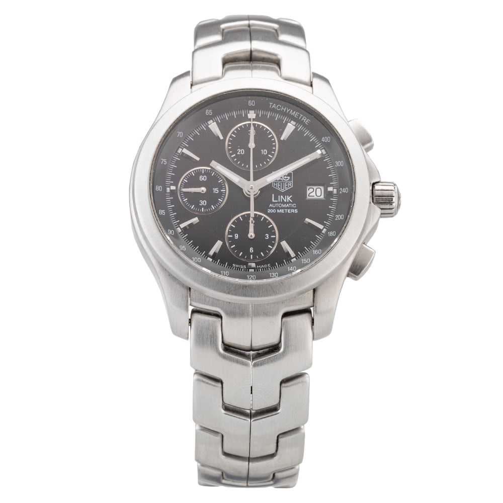Pre-Owned TAG Heuer Link Automatic Bracelet Watch Q0512873484 Tag Heuer Stainless Steel Link Bracelet Watch Q0512873(484) 200 metres Water Resistant Automatic Check out the rest of our Pre-owned Watch Collection here Watches