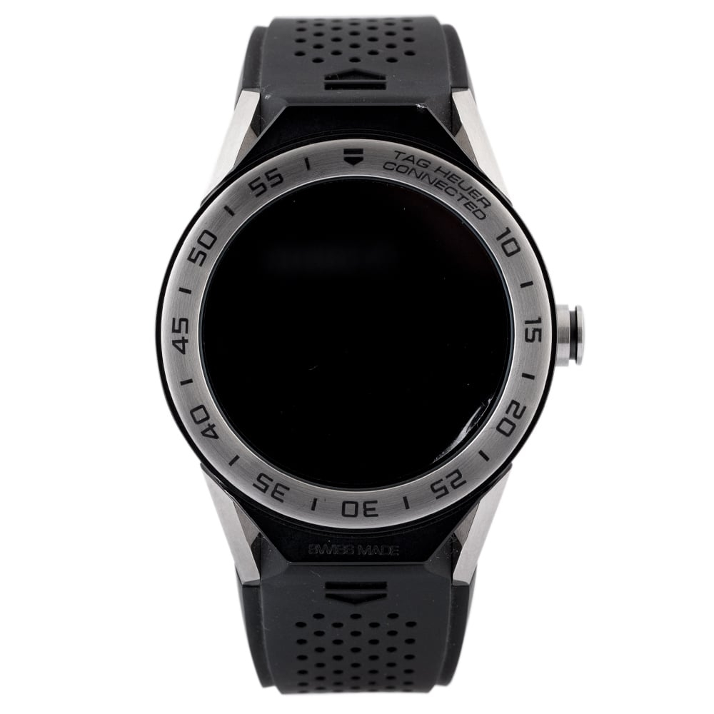Pre-Owned TAG Heuer Connected Black Strap Watch EX 2460517 Tag Heuer Connected Mens Black Rubber Strap Watch Ex 24-60-517 Digital Rubber Check out the rest of our Pre-owned Watch Collection here Watches