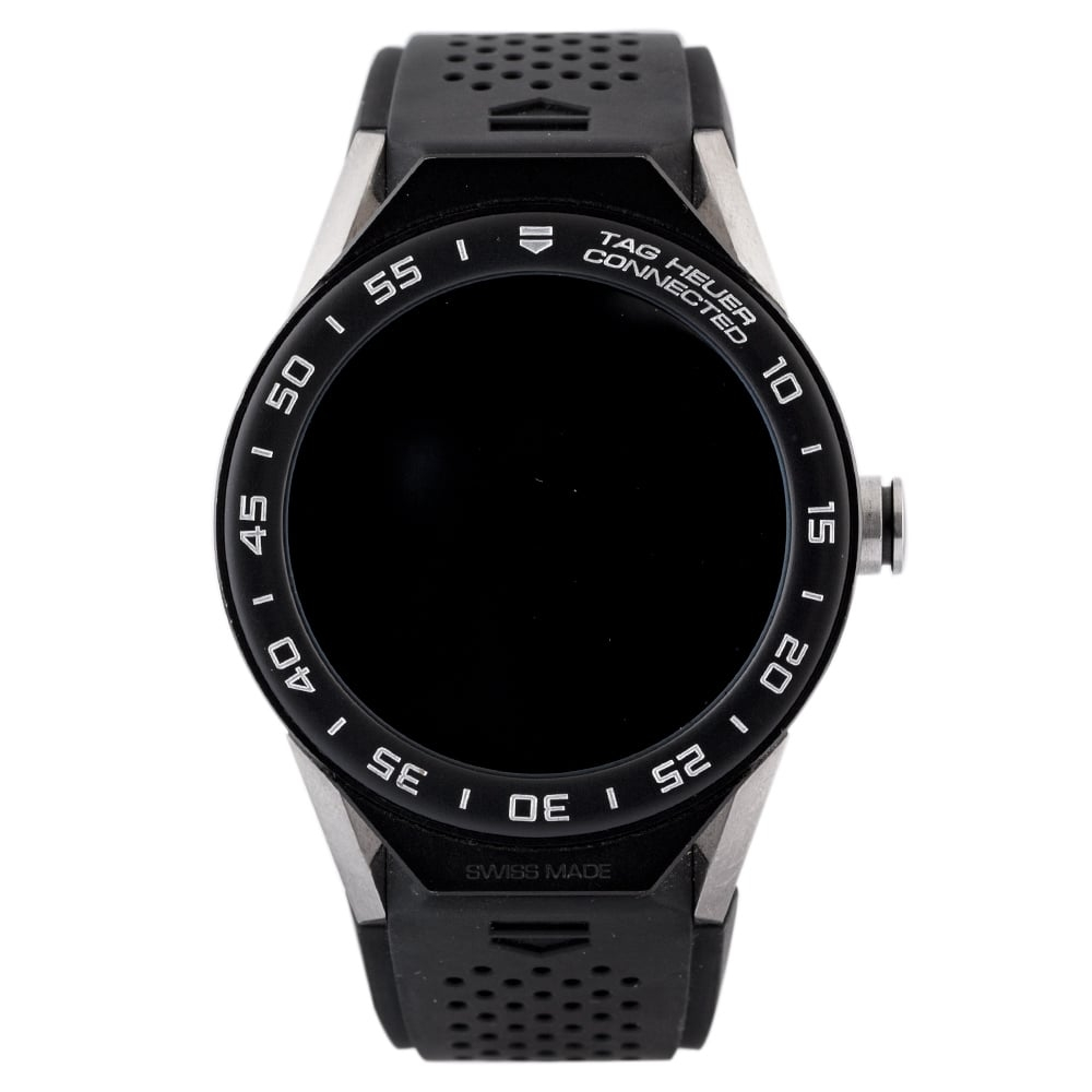 Pre-Owned TAG Heuer Connected Black Strap Watch EX 2460511 Tag Heuer Connected Mens Black Rubber Strap Watch Ex 24-60-511 Digital Rubber Check out the rest of our Pre-owned Watch Collection here Watches