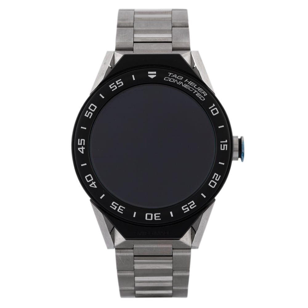 Pre-Owned TAG Heuer Connected Titanium Bracelet Watch EX 2460510 Tag Heuer Connected Mens Titanium Bracelet Watch Ex 24-60-510 Digital Titanium Check out the rest of our Pre-owned Watch Collection here Watches