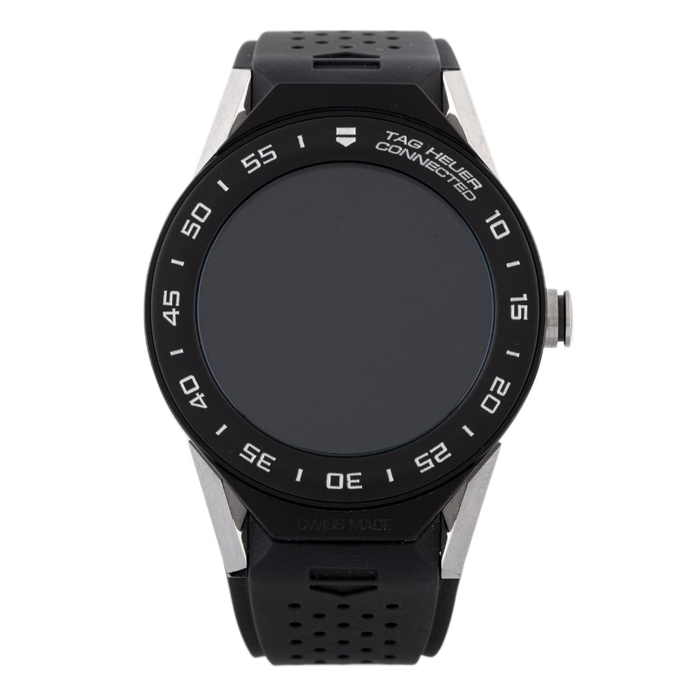 Pre-Owned TAG Heuer Connected Mens Black Rubber Strap Watch EX... Tag Heuer Connected Mens Black Rubber Strap Watch Ex 24-60-557 Digital Rubber Check out the rest of our Pre-owned Watch Collection here Watches