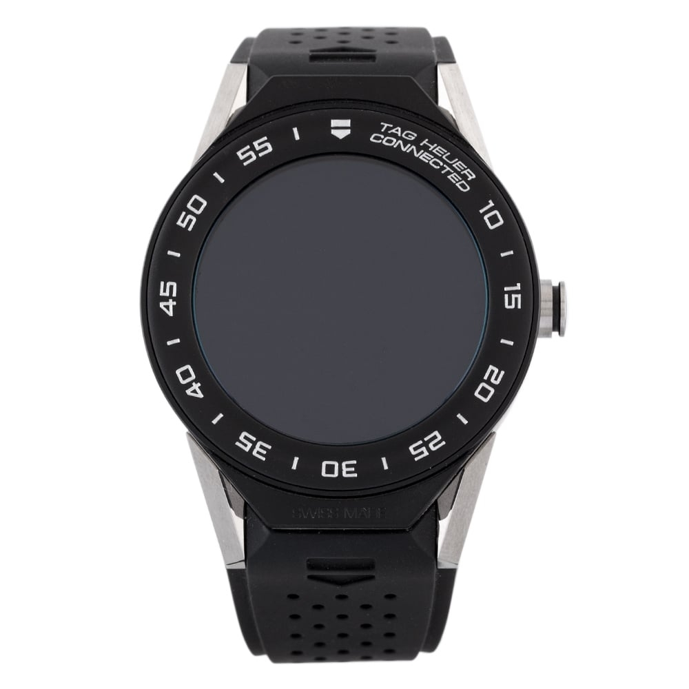 Pre-Owned TAG Heuer Connected Mens Black Rubber Strap Watch EX... Tag Heuer Mens Connected Black Rubber Strap Watch Ex 24-60-557 Digital Rubber Check out the rest of our Pre-owned Watch Collection here Watches