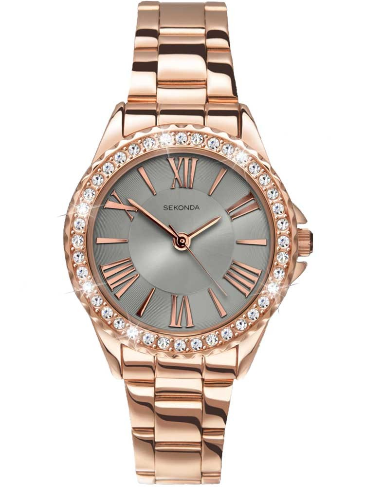 Sekonda Ladies Editions Temptations Rose Gold Plated Stone Set ...