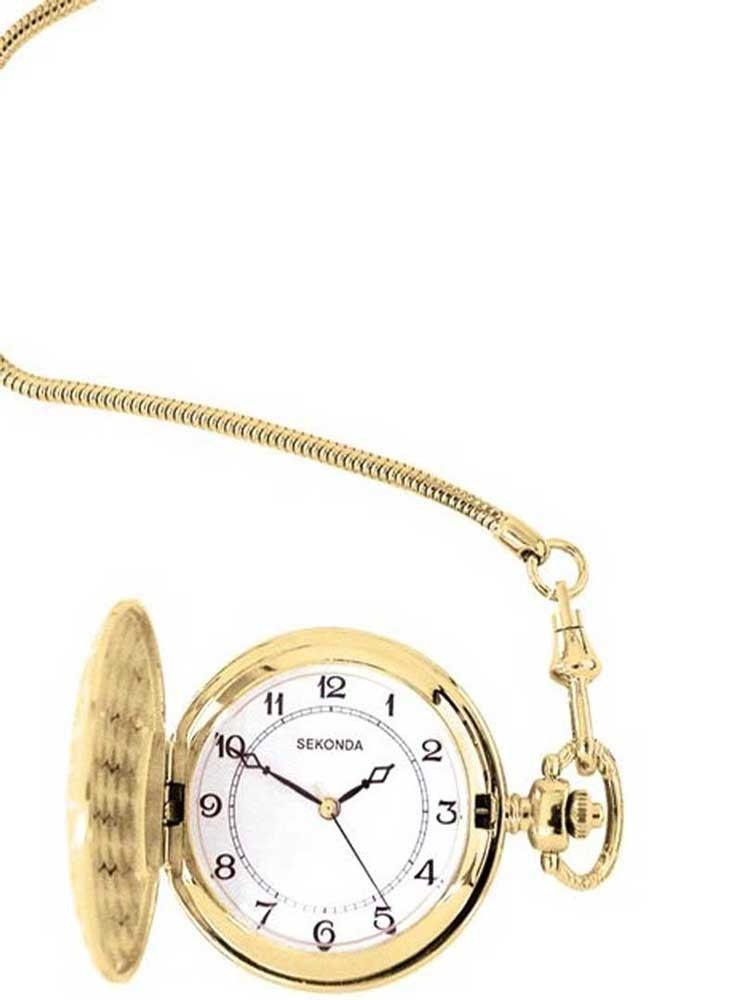 Sekonda Mens Gold Plated Full Hunter Watch