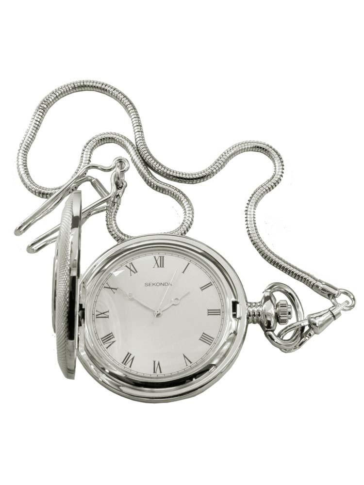 Sekonda Mens White Pocket Watch