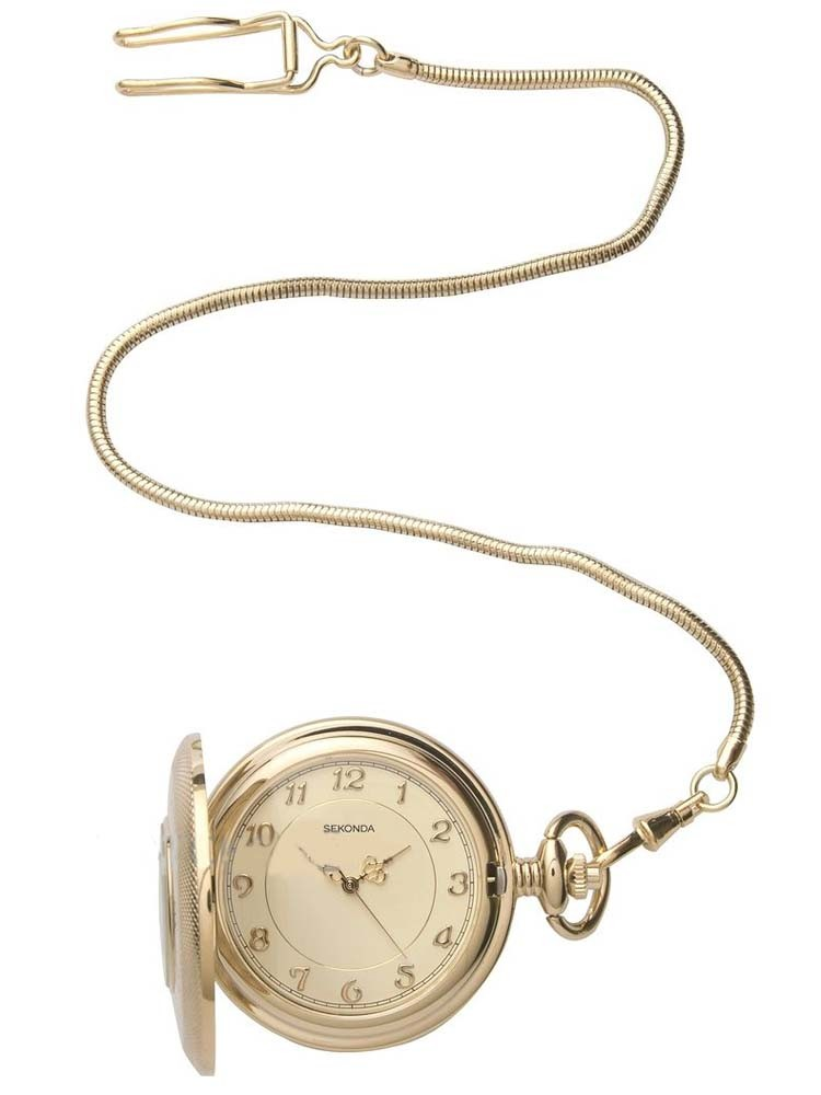 Sekonda Mens Gold Pocket Watch