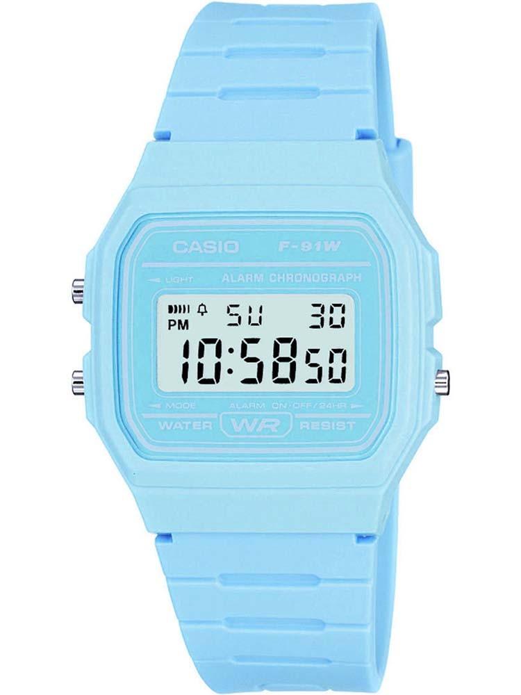 CASIO Collection Women Digital Blue Plastic Strap Watch