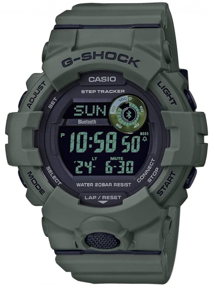 Casio G-Shock Sports Digital Chronograph Green Plastic Strap Watch