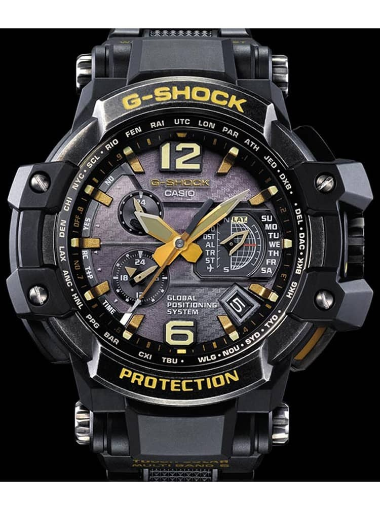 4297126497ef Casio G-Shock Master Of G Air Gravitymaster Gold Carbon Resin Strap Watch  GPW-1000GB-1AER
