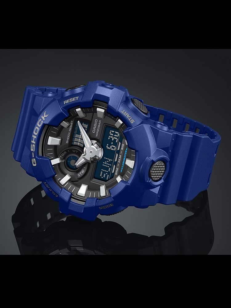 777ec0fed51 Casio G-Shock Classic Dual Display Blue Plastic Strap Watch GA-700-2AER