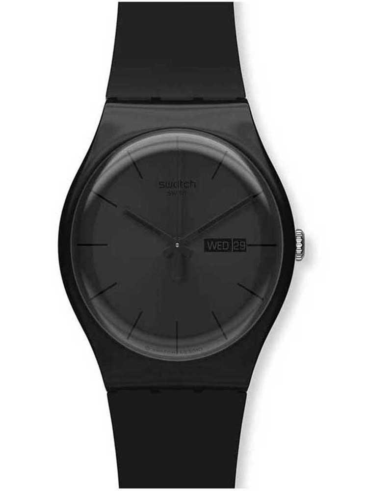 Swatch Mens Black Rebel Watch