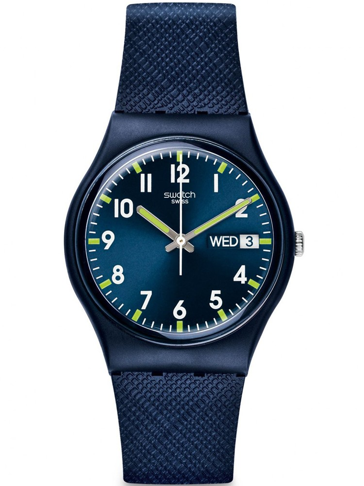 Swatch Unisex Sir Blue Strap Watch