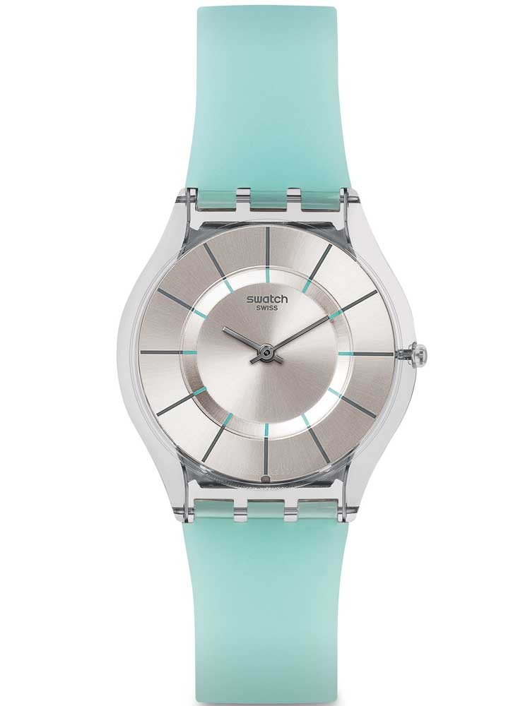 Swatch Ladies Summer Breeze Blue Strap Watch