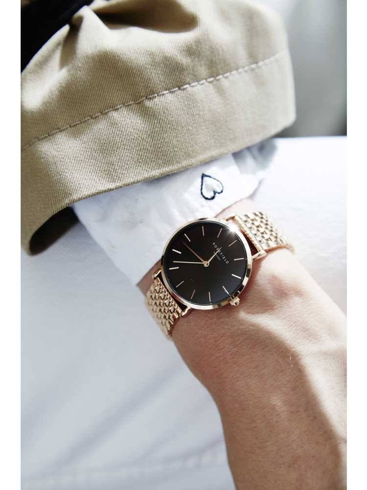Rosefield Ladies Rose Gold Plated Upper East Side Watch