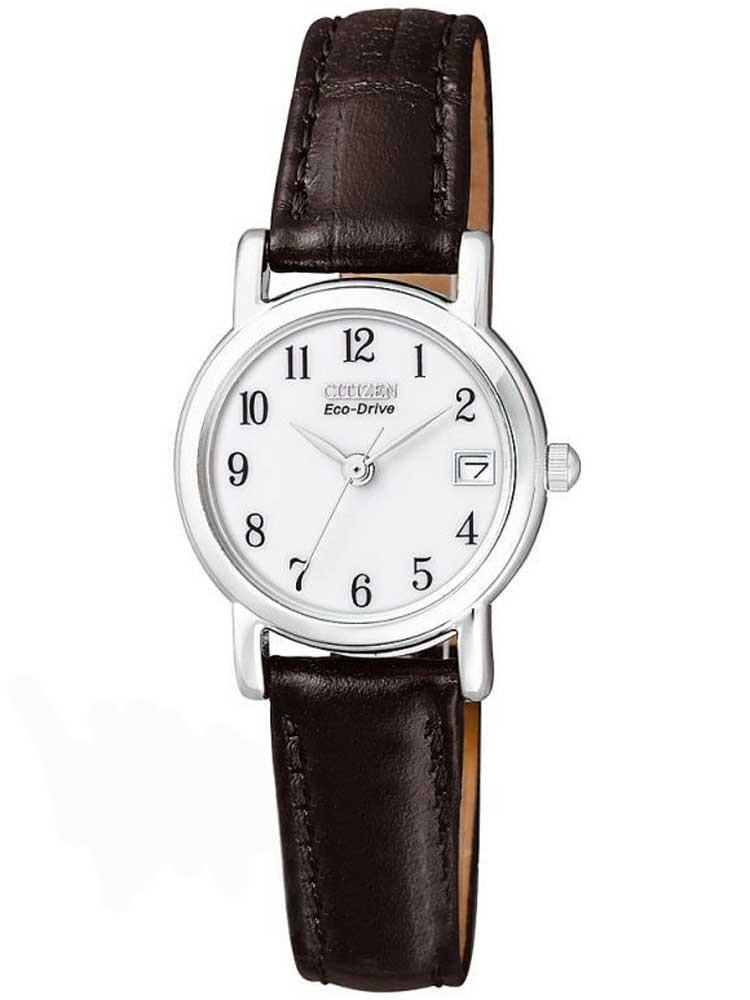 Citizen Ladies Black Leather Strap Watch