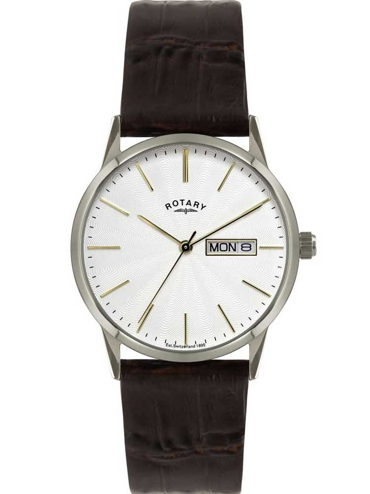 rotary mens brown strap watch gs02750 06