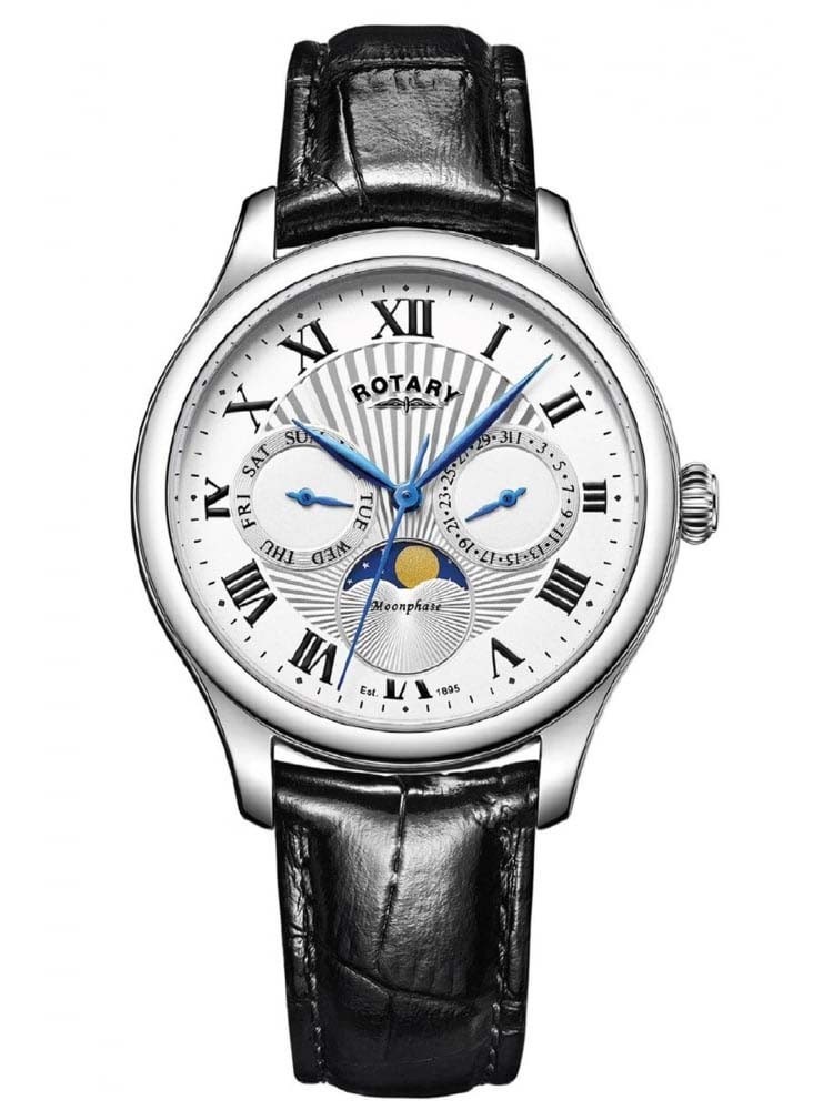 rotary mens moonphase watch gs05065 01