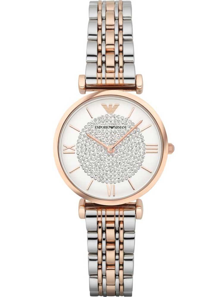 Emporio Armani Ladies Two Tone Bracelet Watch