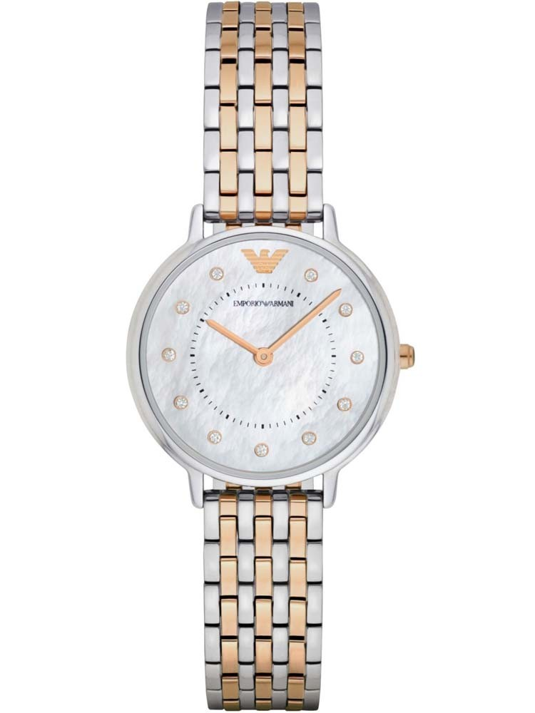 Emporio Armani Ladies Two Tone Bracelet Watch
