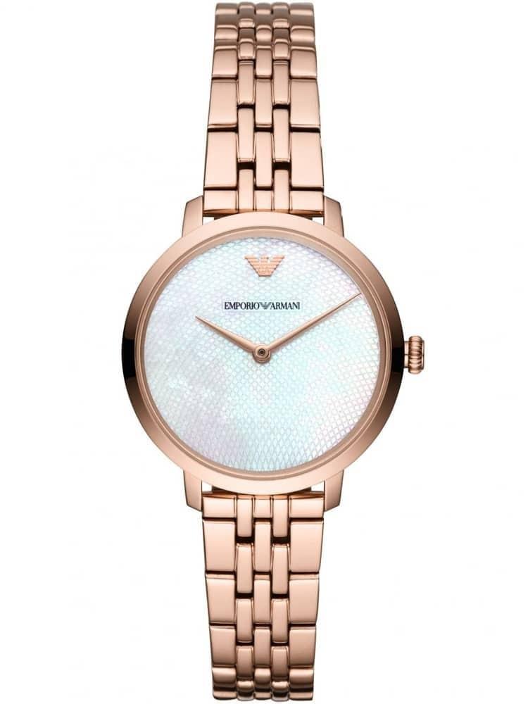 6d1dc4fc Emporio Armani Ladies Rose Gold Plated Bracelet Watch AR11158