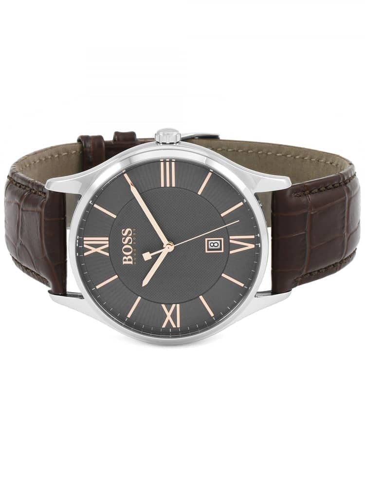 481acbad4 BOSS Mens Governor Brown Leather Strap Watch 1513484