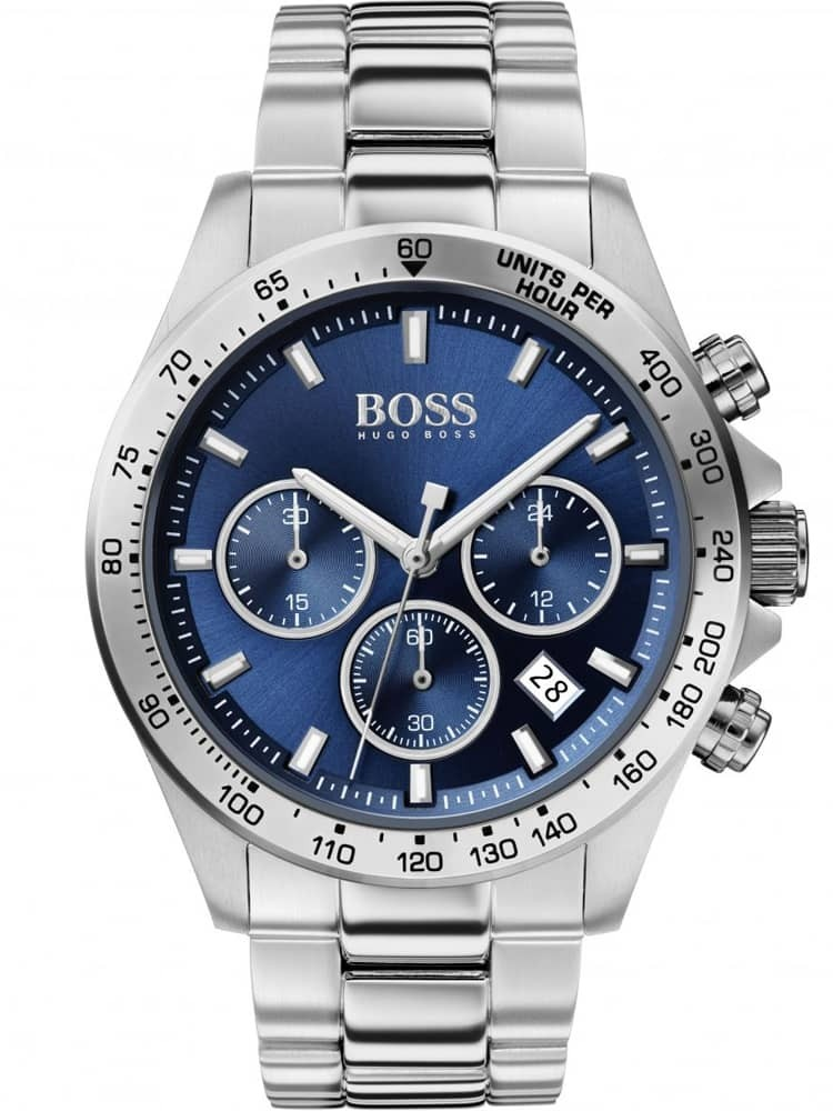 BOSS Mens Hero Sport Lux Blue Dial Bracelet Watch