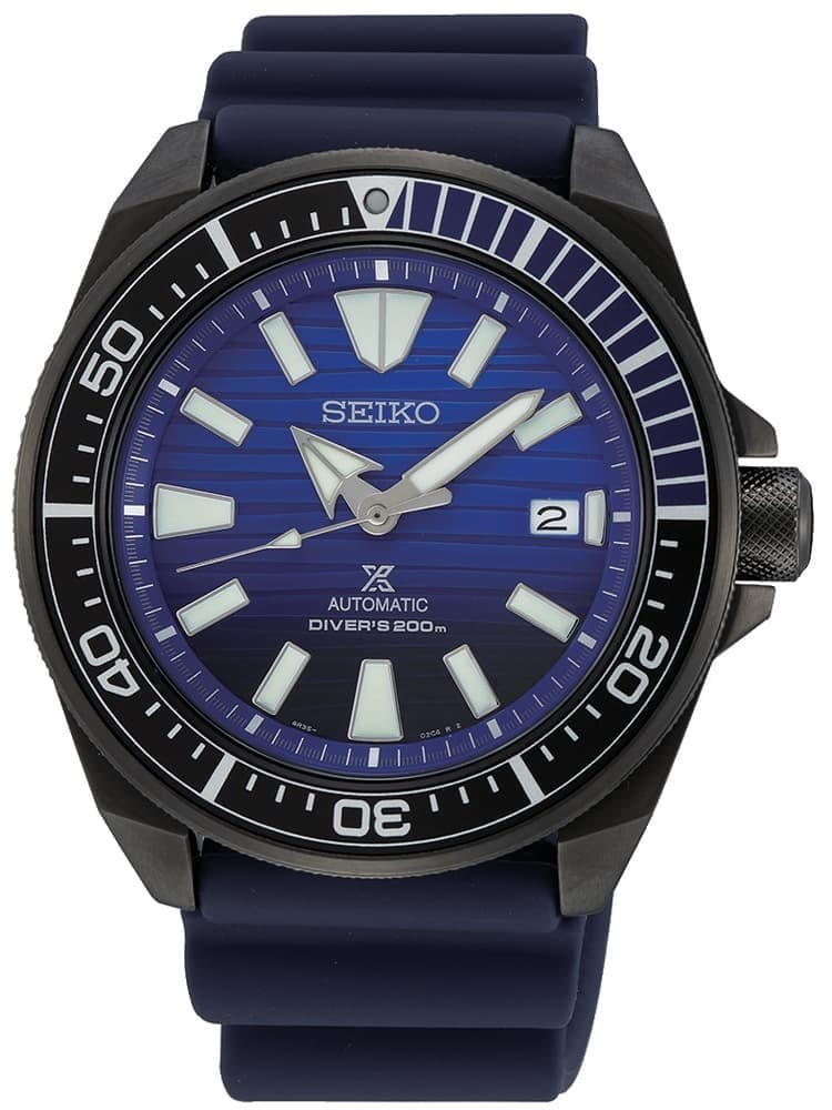 Seiko Mens Prospex Save The Ocean Blue Rubber Strap Watch