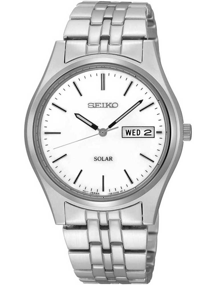 Seiko Mens Discover More Solar Silver Bracelet Watch