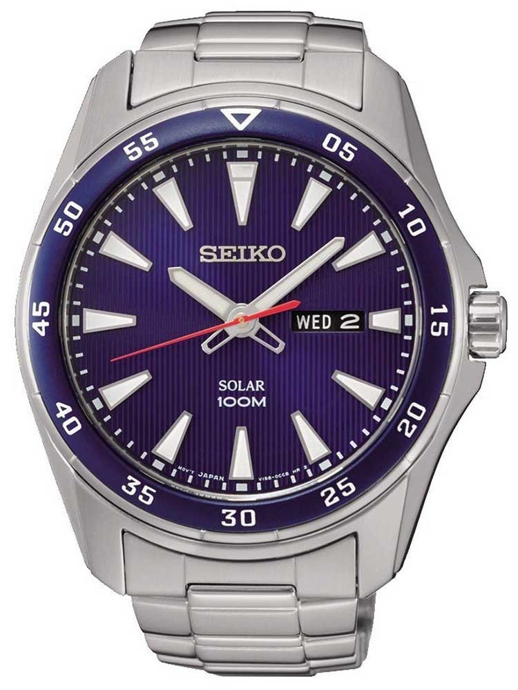 Seiko Mens Discover More Solar Blue Bracelet Watch