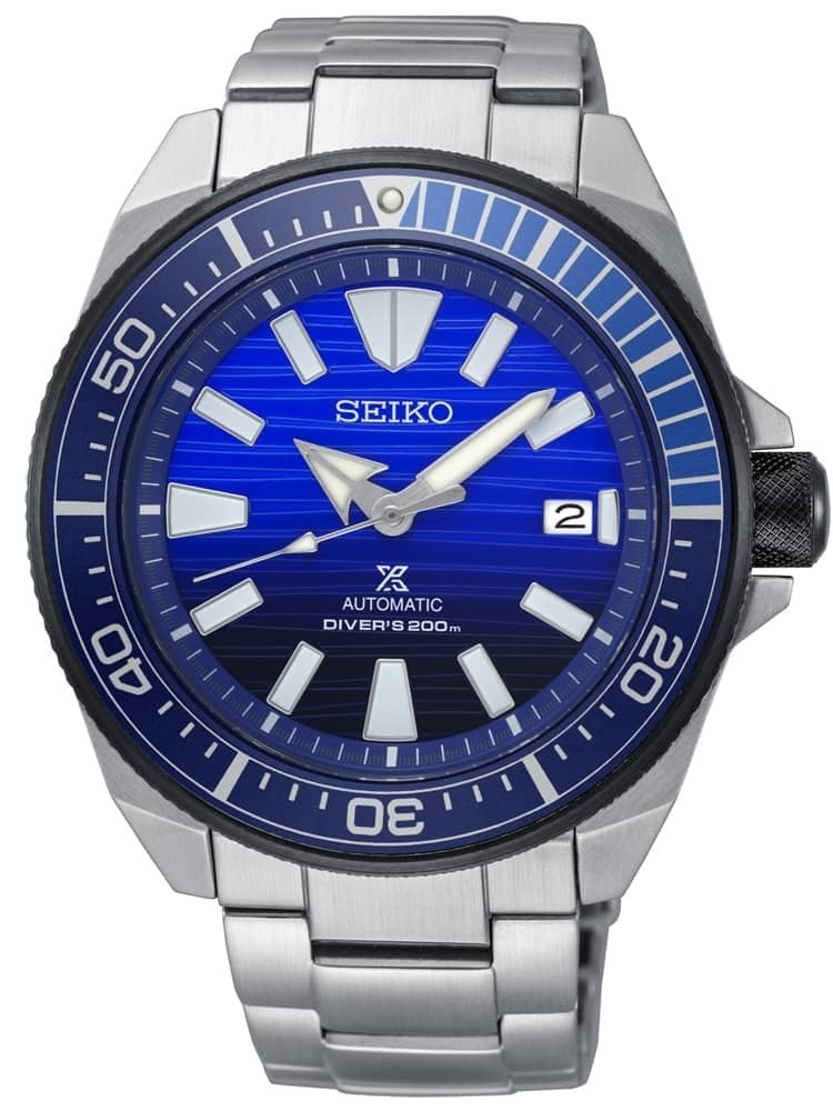 Seiko Mens Prospex Save The Ocean Special Edition Automatic Blue Bracelet Watch