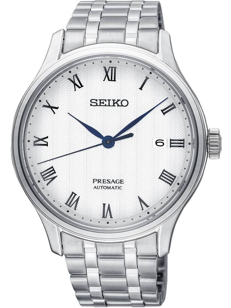 Seiko Mens Presage Automatic Silver Bracelet Watch