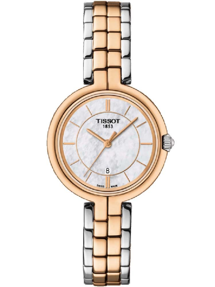 Tissot Ladies T-Lady Flamingo Two Tone Watch