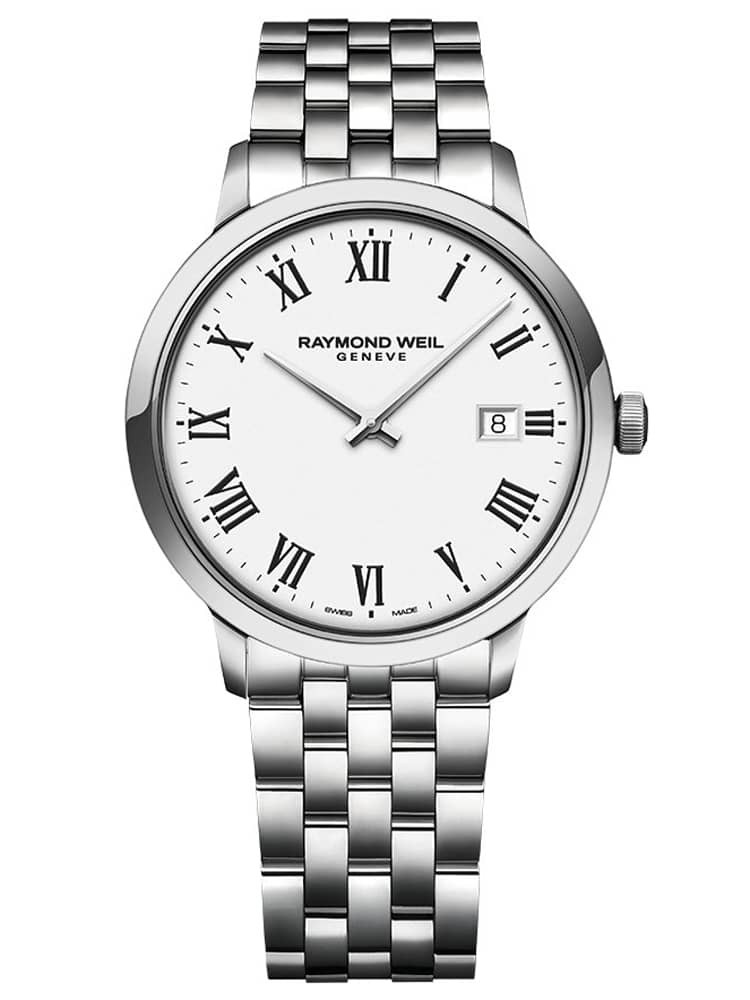 Raymond Weil Mens Toccata Classic White Roman Numeral Dial Bracelet Watch
