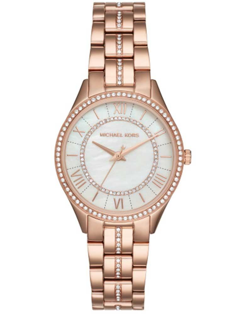 Michael Kors Ladies Lauryn Rose Gold-plated Bracelet Watch