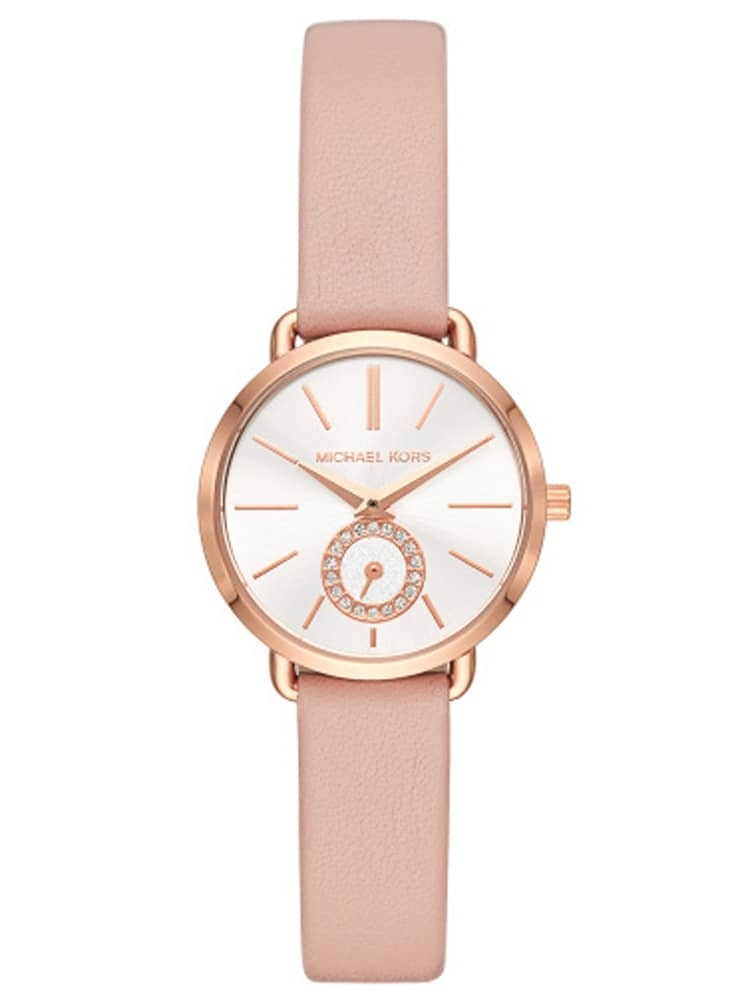 Michael Kors Mini Portia Rose Tone Pink Strap Watch