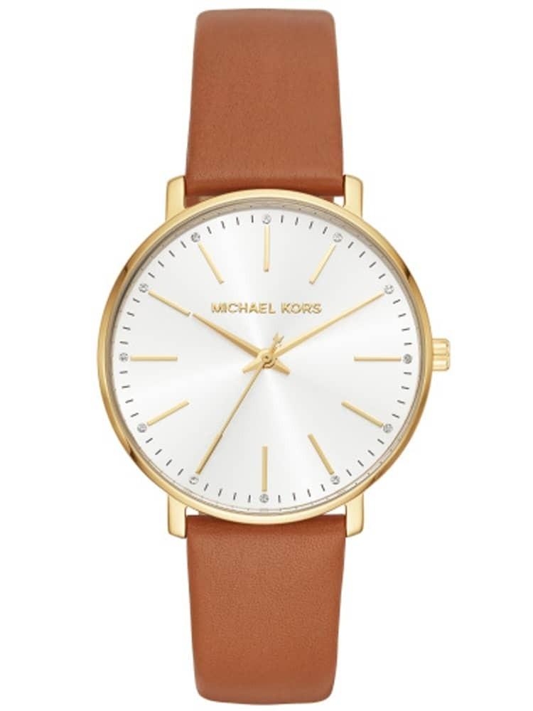 Michael Kors Pyper Gold Tone Tan Strap Watch