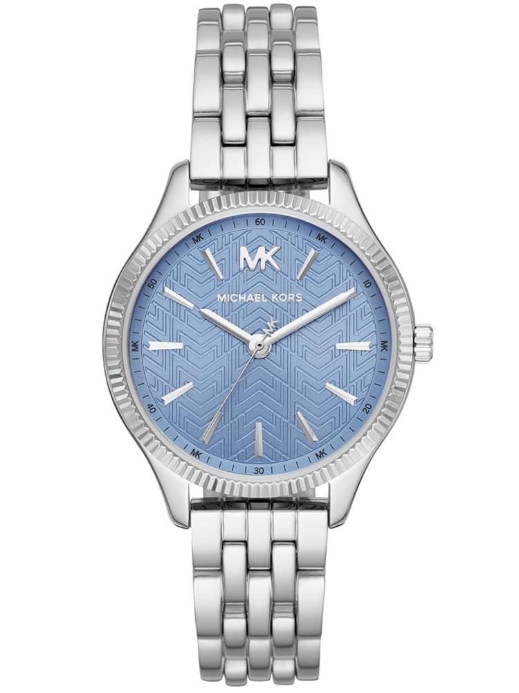 Michael Kors Ladies Lexington Stainless Steel Blue Dial Bracelet Watch