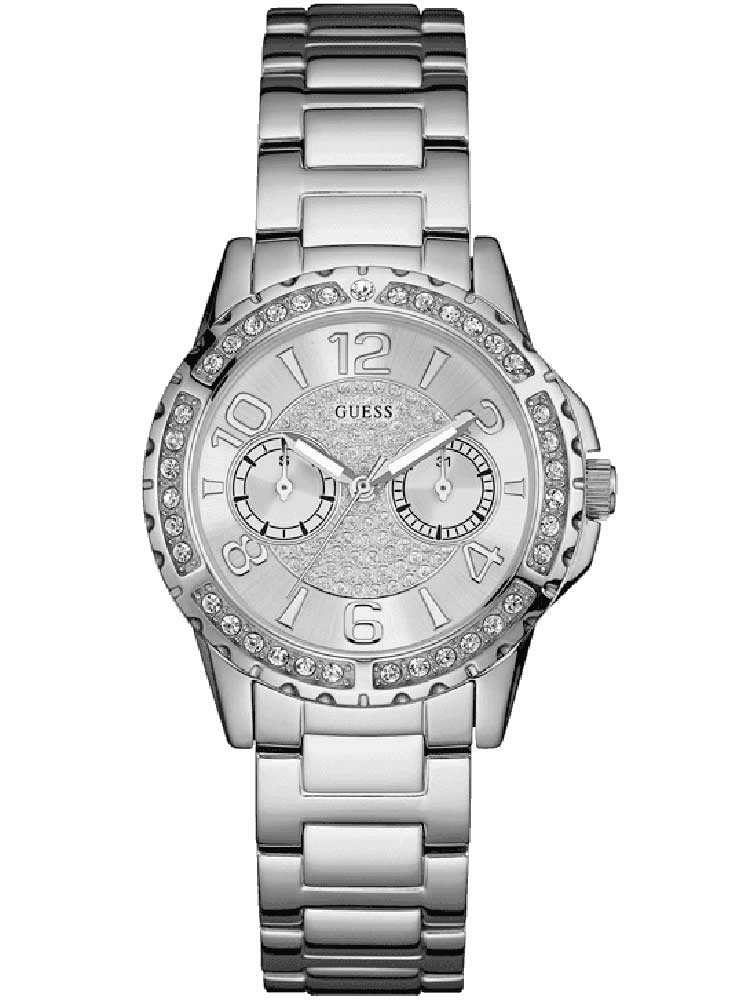 Guess Ladies Sassy Stainless Steel Bracelet Watch W0705L1