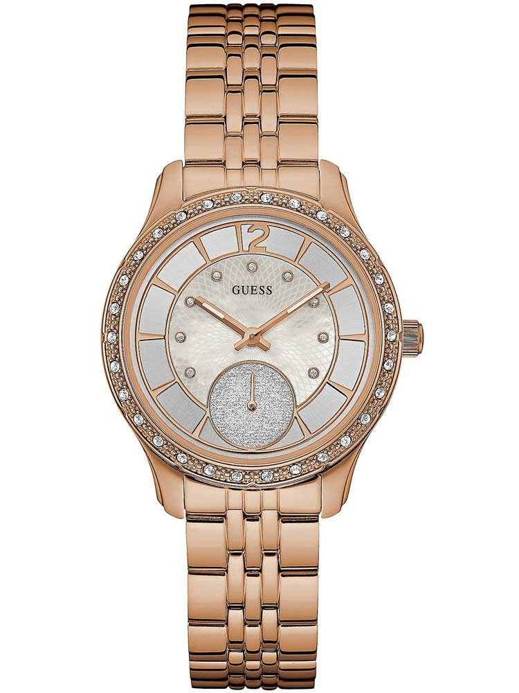 Guess Ladies Rose Gold Plated Bracelet Watch W0931L3 - photo #6