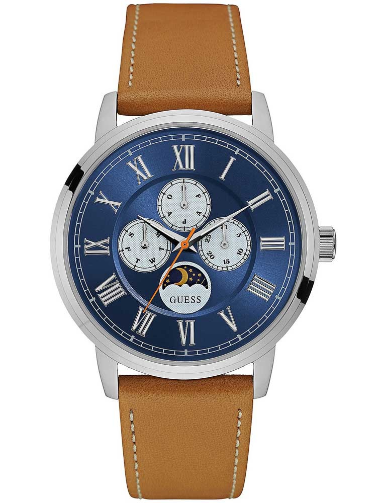 watches day s m watch classic retro brown date sport blue leather davis product mens wristwatch chronograph strap waterresist dial men