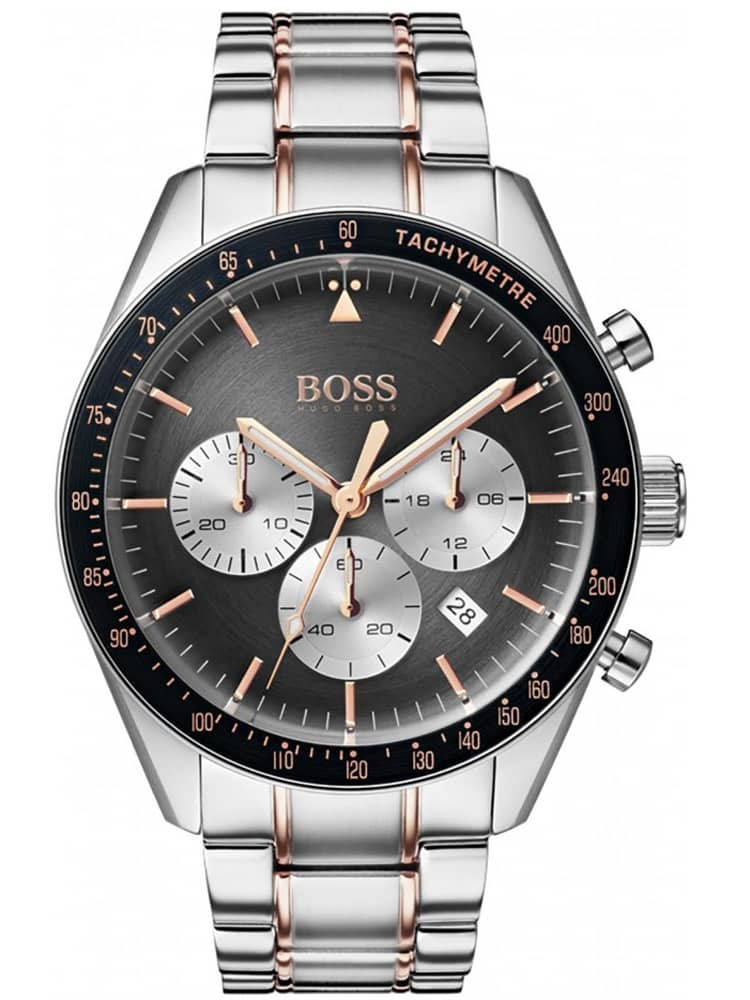BOSS Mens Trophy Chronograph Two Tone Bracelet Watch