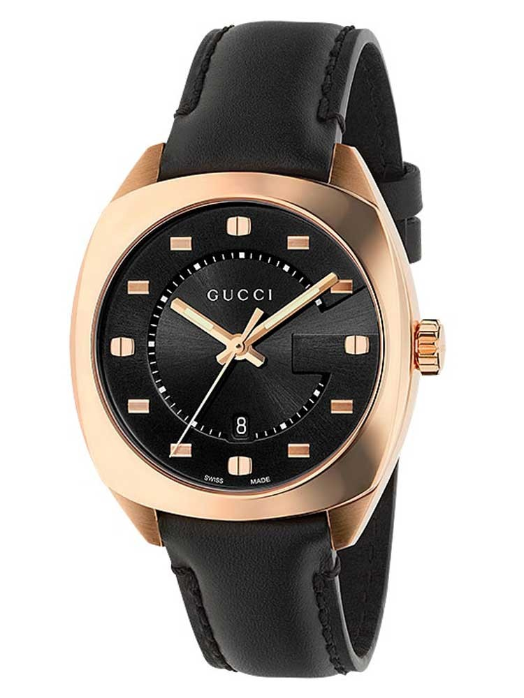 Gucci Ladies G-Frame Rose Gold Plated Strap Watch
