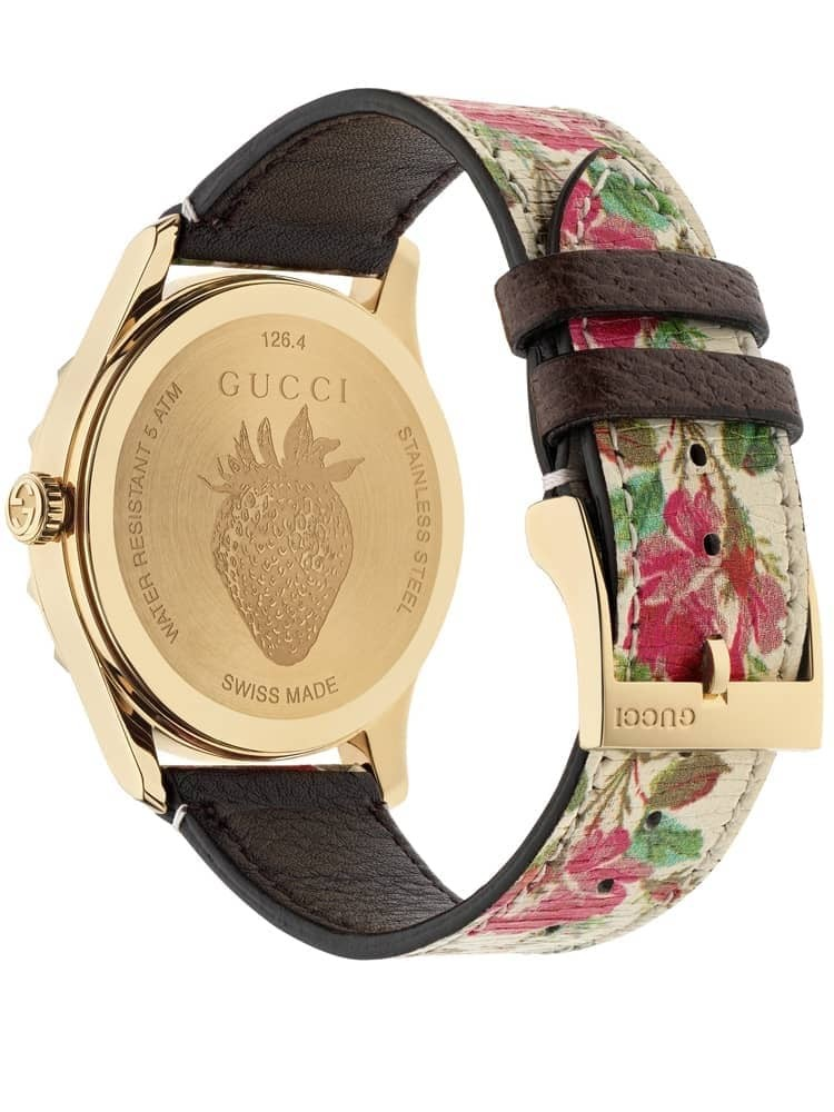 9cd1e9f0ca4 Gucci Ladies G-Timeless Pink Blooms Watch YA1264084