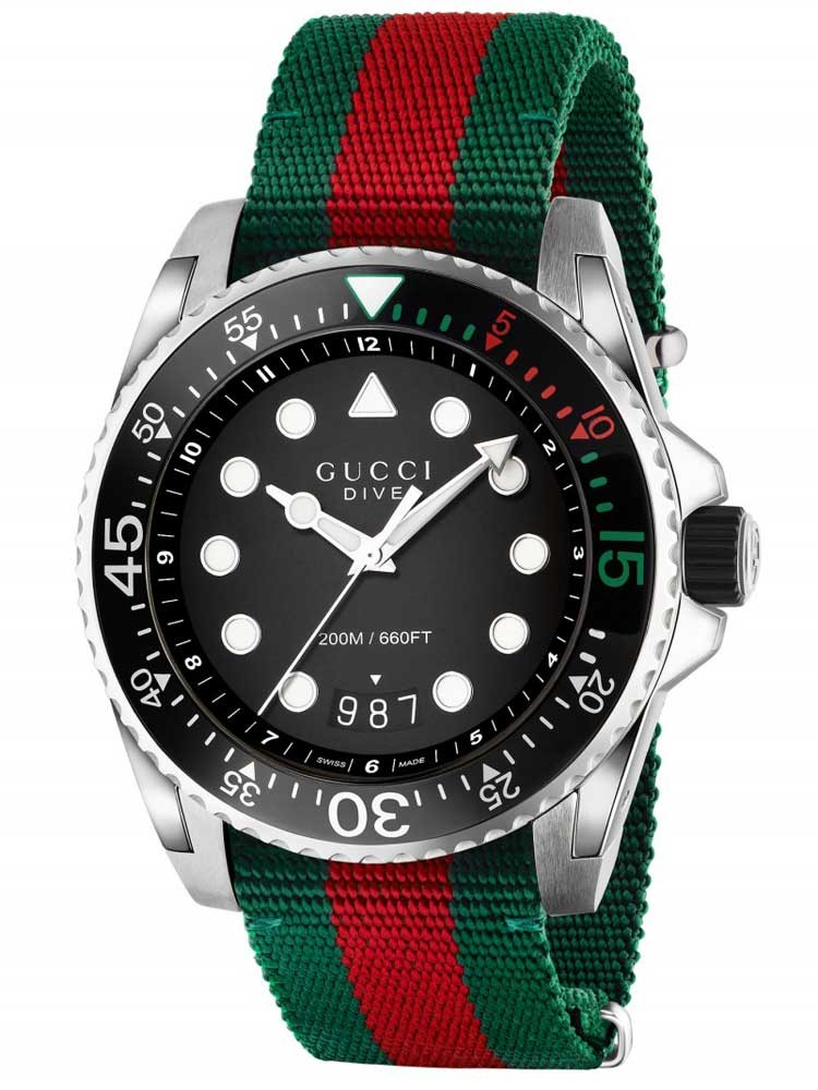mens gucci strap dive watch watches