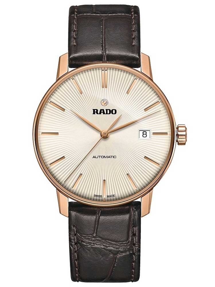 Rado Mens Coupole Classic Automatic Brown Leather Strap Watch