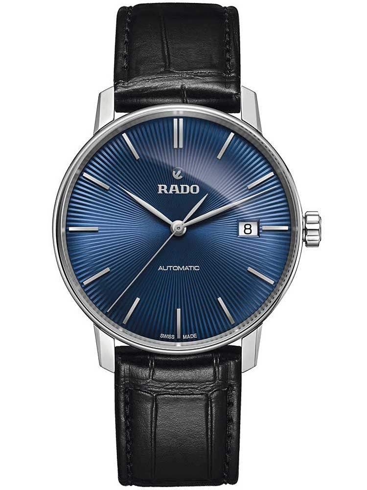 Rado Mens Coupole Classic Automatic Black Leather Strap Watch